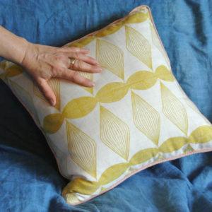 Cushion St Cuthman mustard