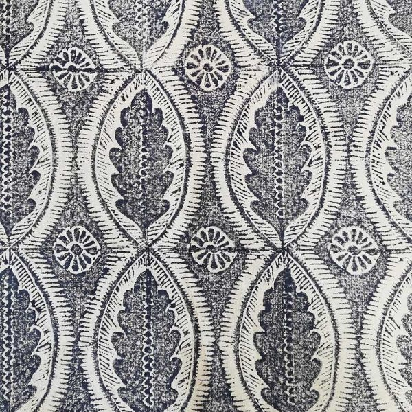 Sussex Oak Hand Block Printed Fabric by Sarah Burns Patterns