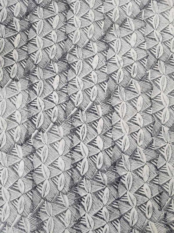 Margaret hand printed fabric by Sarah Burns Patterns