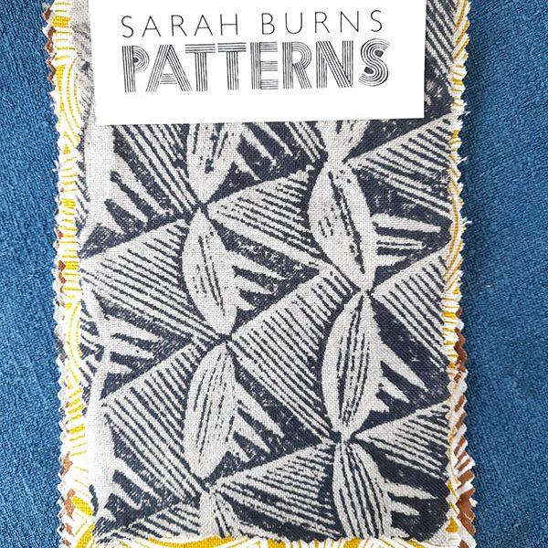 Margaret handprinted fabric sample