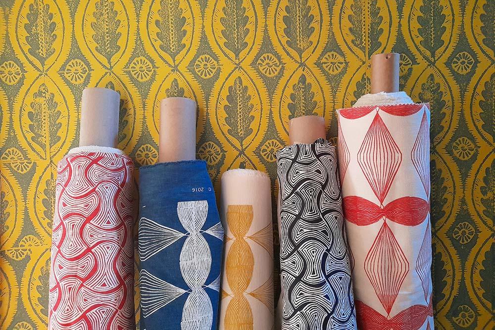 Hand block print fabric by Sarah Burns Patterns